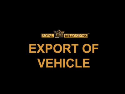 EXPORT OF VEHICLE