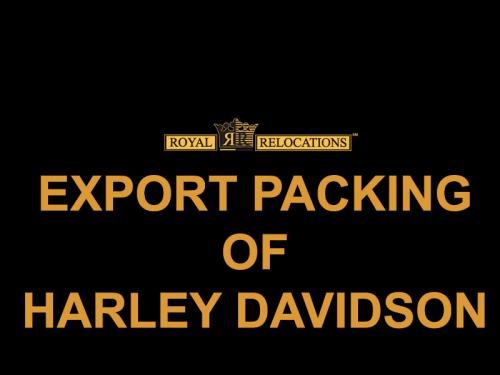 Export Packing of Harley Davidson
