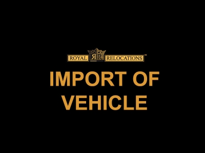 Import of Vehicle