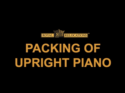Packing of Upright Piano